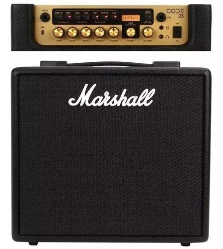 Amplificador marshall code 25 + conversor 110v