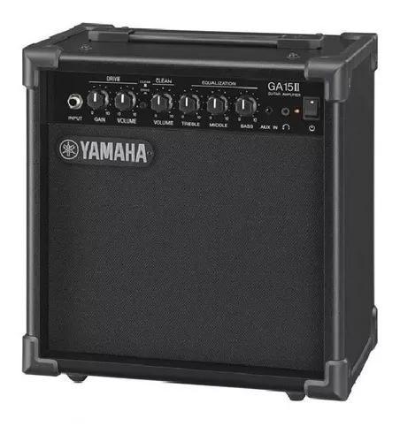 Amplificador yamaha ga-15 il preto para guitarra