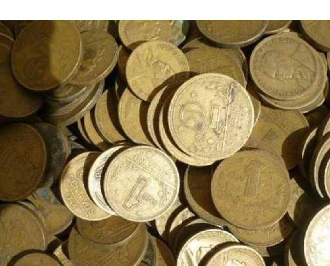 Compro moedas antigas amarelas 1922 a 1956 pago r$30,00 kg