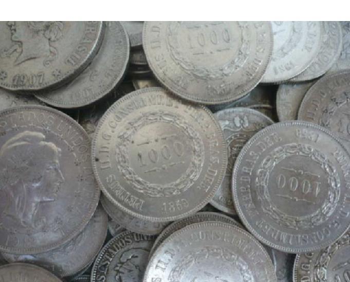 Compro moedas antigas d prata anteriores a 1.913 r$1200 o kg