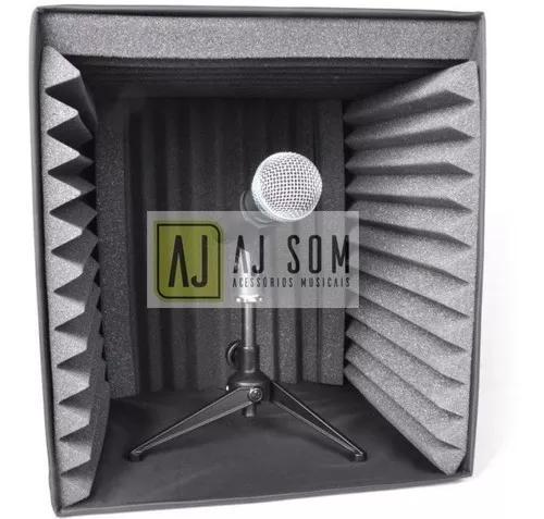 Cabine de isolamento acústico,anti-reflexo p/microfone akg