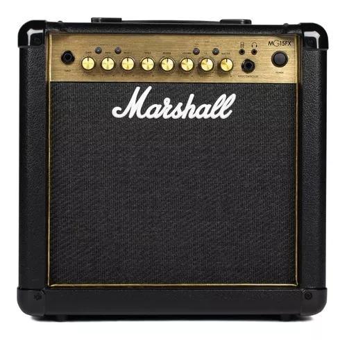 Combo guitarra 15w - mg15gfx gold - marshall - 110v + brinde