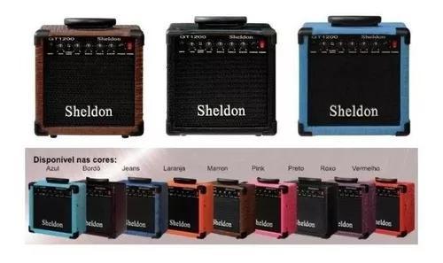 Cubo 15w caixa amplificador de guitarra +1cabo 5 mt oferta!*