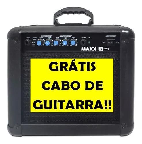 Cubo amplificador guitarra maxx 15 mackintec+cabo 3mt
