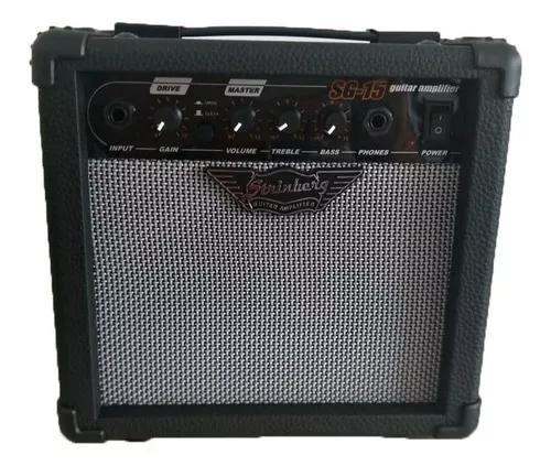 Cubo amplificador para guitarra strinberg sg15 gr - c/ nf