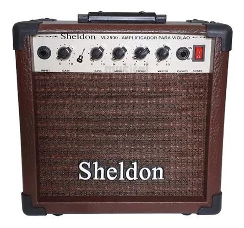 Cubo amplificador para violão sheldon vl2800 marrom oferta!
