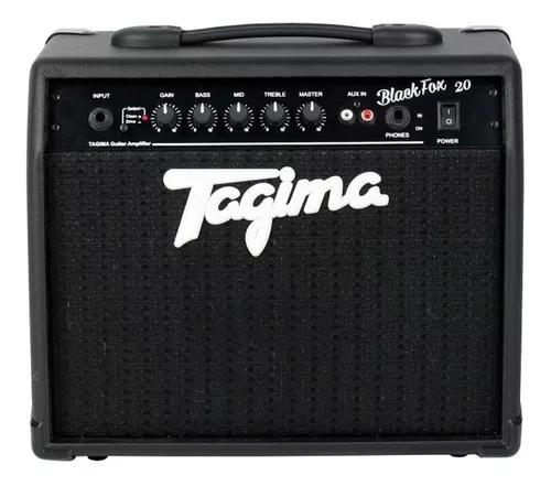 Cubo amplificador tagima black fox 20w rms violão guitarra