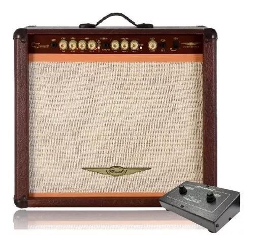 Cubo guitarra oneal ocg-400r marrom + brinde