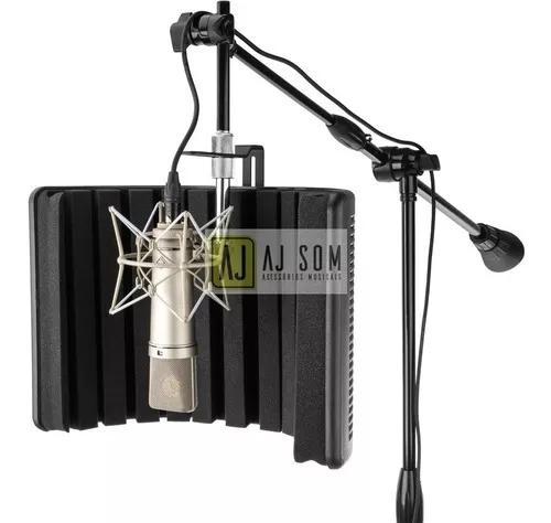 Difusor acústico-vocal booth reflection filter black