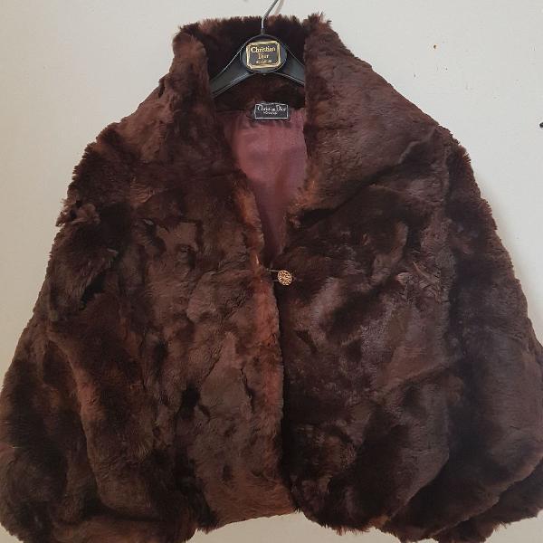 Dior poncho de pele vintage