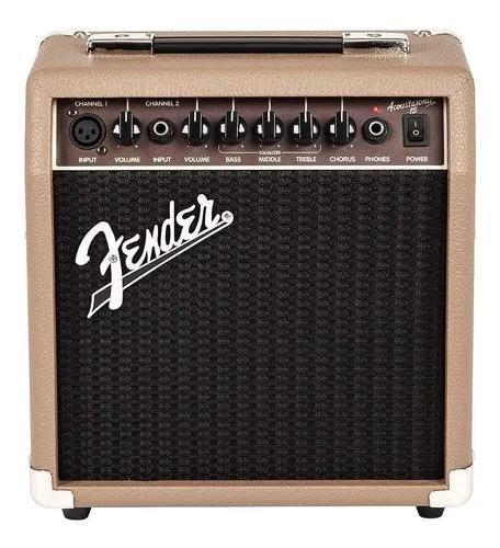 Fender acoustasonic 15 amplificador de guitarra - garantia
