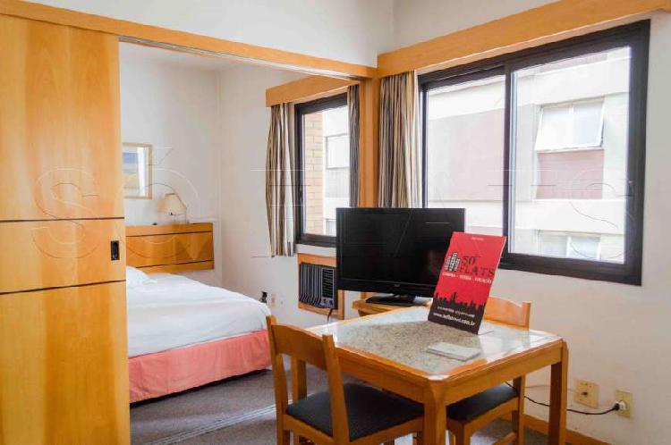Flat com 1 quarto para alugar, 33 m² por r$ 1.900/mês cod.