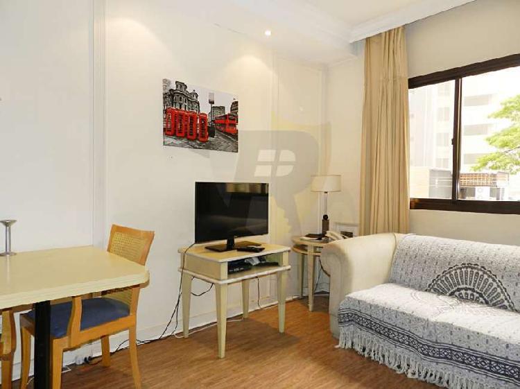 Flat com 1 quarto para alugar, 35 m² por r$ 1.500/mês cod.