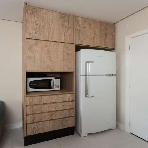 Flat com 1 quarto para alugar, 38 m² por r$ 1.200/mês cod.