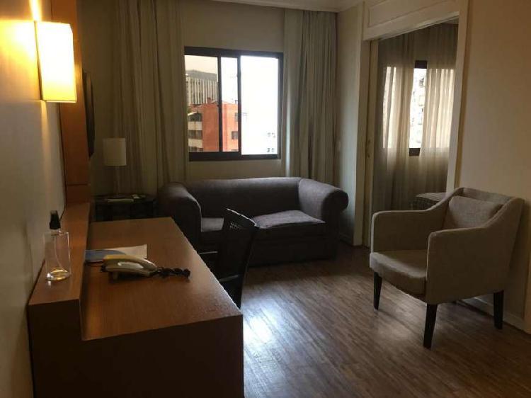 Flat com 1 quarto para alugar, 38 m² por r$ 2.000/mês cod.