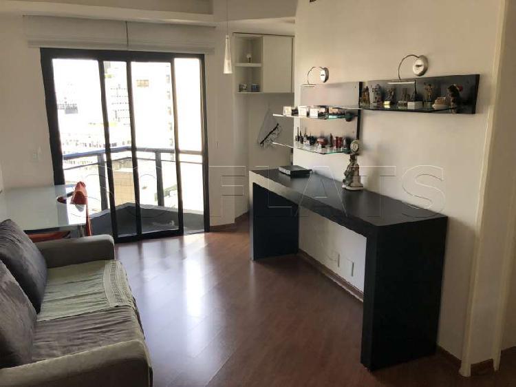 Flat com 1 quarto para alugar, 48 m² por r$ 3.500/mês cod.