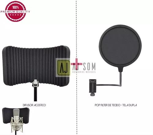 Kit difusor acústico slim+pop filter 6''-top !!!