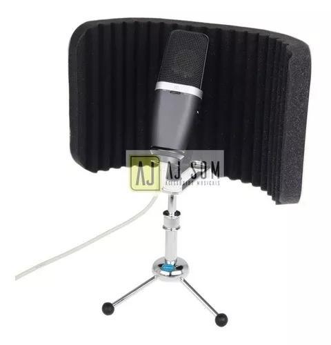Mini-difusor acústico p/mesa vocal booth reflection filter