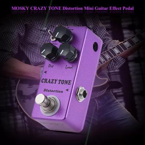 Mosky mp -50 crazy tone riot distorção mini guitarra