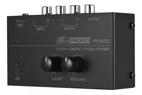 Pr? amplificador ultra-compacto com bot?o de volume e n?vel