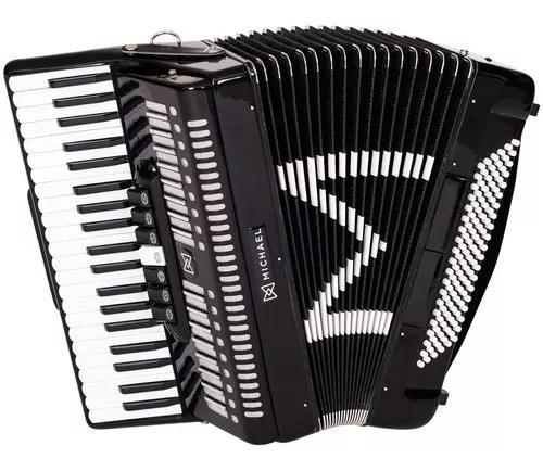 Sanfona acordeon 120 baixos michael acm12007 c/ bag e case