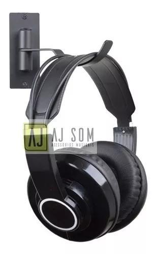 Suporte p/ fone de ouvido,cabos,percussão-fixação na