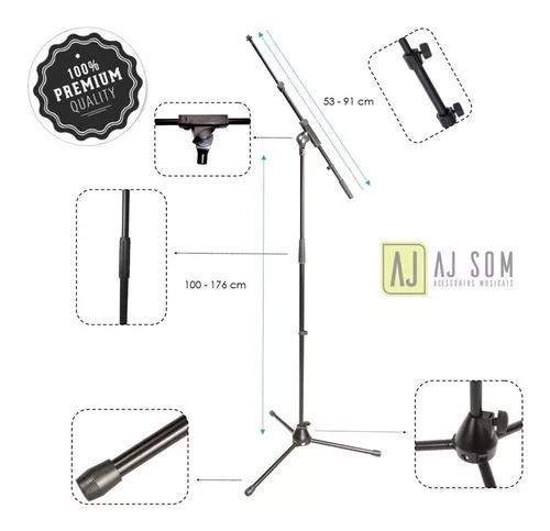 Tripé,apoio,suporte telescópico p/microfone-importado-top