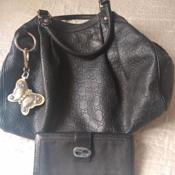 Bolsa suckey e carteira gucci original