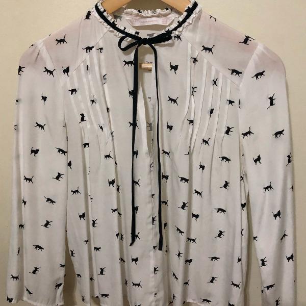 Camisa de lacinho zara