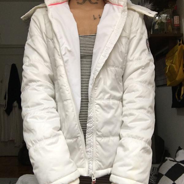 Casaco branco aeropostale