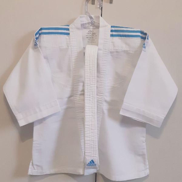 Kimono judô infantil adidas branco básico branco
