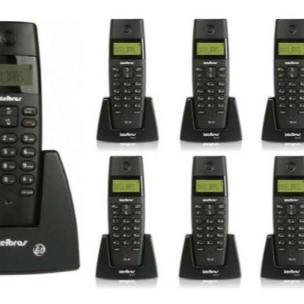 Kit telefone sem fio digital ts 40 id intelbras + 8 ramais