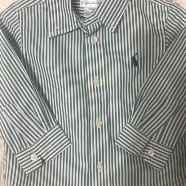 Pack de 2 camisas 12 meses ralph lauren e tommy hilfiger