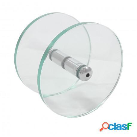 Puxador circular/redondo de vidro transparente para porta de vidro