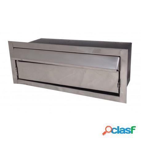 Caixa de correio em inox média com abertura frontal