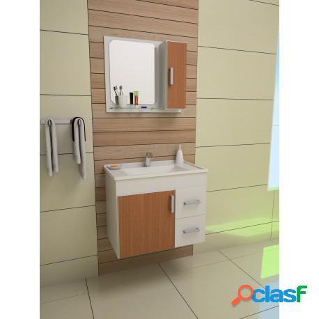 Gabinete para banheiro cremona 60 com espelheira