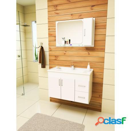 Gabinete para banheiro cremona 80 com espelheira