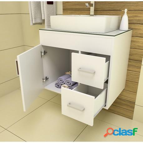 Gabinete para banheiro veneza 65 sem espelheira