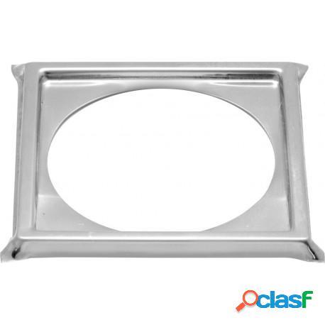 Porta grelha quadrada em aço inox 10x10