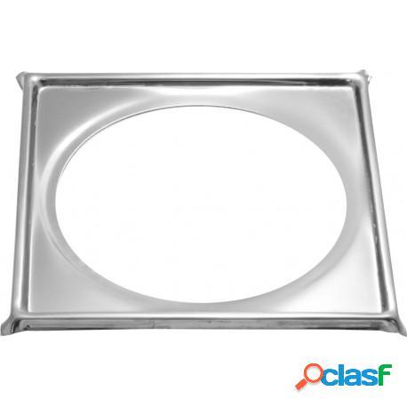 Porta grelha quadrada em aço inox 15x15