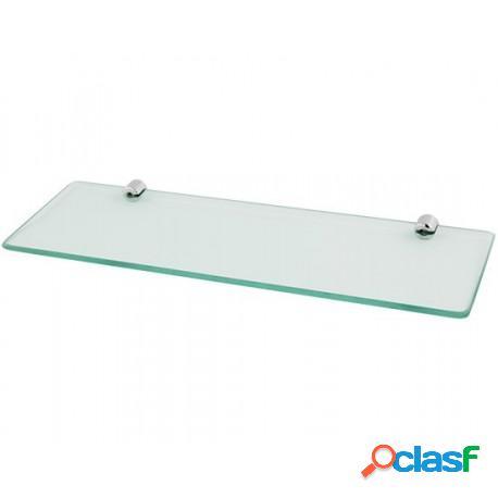Prateleira reta 30x10cm com vidro cristal (transparente) de 8mm