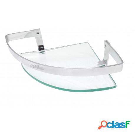 Porta shampoo de canto athena com grade e vidro 8mm