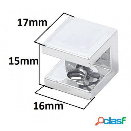 10 suporte fenda quadrado para prateleira de vidro 8mm