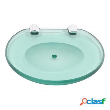 Saboneteira ou porta sabonete simples de parede vidro 8mm verde
