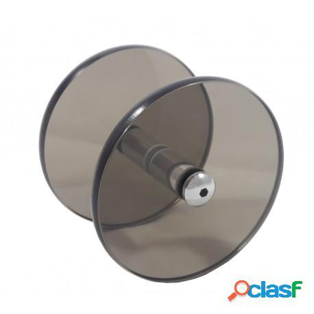 Puxador circular/redondo de vidro bronze para porta de vidro