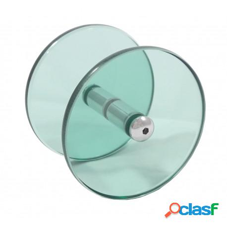Puxador circular/redondo de vidro verde para porta de vidro