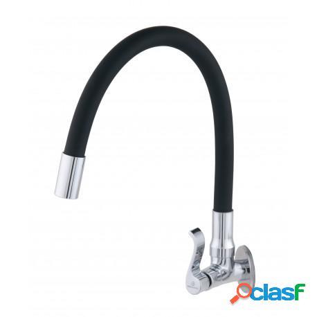 Torneira para pia cozinha parede bica movel flexível preta c71