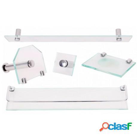 Kit acessórios para banheiro de vidro para banheiro incolor