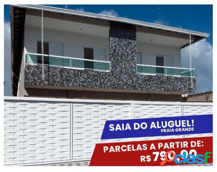 Res. bella vita - casa em condomínio em praia grande - guilhermina por 230 mil à venda