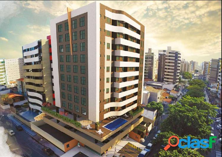 02 suítes 63,84m² a 500m da praia de ponta verde - apartamento a venda no bairro ponta verde - maceió, al - ref.: pi07543
